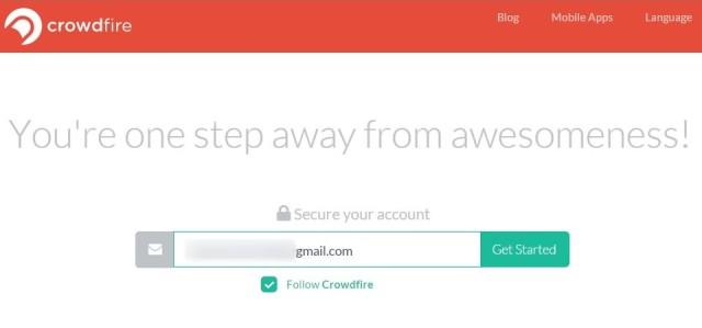 crowdfire-emailadresse-eintragen